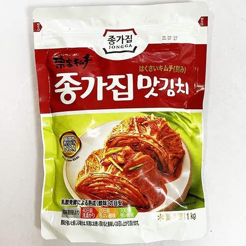 【送料無料】韓国 宗家 白菜 カット キムチ 1kg x 2袋 韓国産 食品 食材 料理 おかず おつまみ 発酵食品 1945【入り数3】