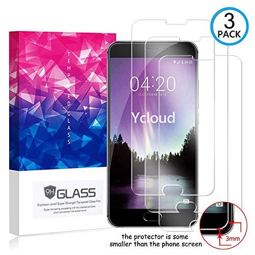 Ycloud [3 Pack] Protector de Pantalla para Meizu MX6,[9H Dureza/0.3mm],[Alta Definicion] Cristal Vidrio Templado Protector para Meizu MX6