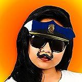 Costume Sunglasses Police Sun-Staches Party Favors UV400