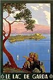 Poster 61 x 91 cm: Italien - Le Lac de Garda von Travel