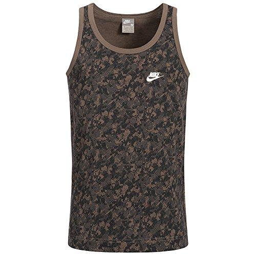 Nike para Hombre Fusion Slim Fit sin Mangas tee, Vestir, Hombre, Color Maroon Camouflage, tamaño XL