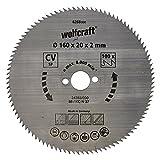 Wolfcraft 6268000 Lame scie circulaire CV 100Dts Diamètre 160 x 20 mm