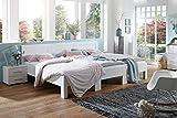 Rima Original Familienbett | Modell RÜGEN | Fichte massiv | weiß lackiert | 270x200cm