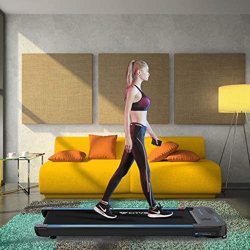 Folding Under Desk Treadmill | Bluetooth Electric Walking Machine 440W Motor | Built-in...