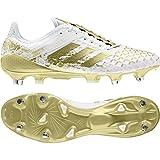 adidas Predator Malice Control SG, Chaussures de Rugby Homme - Blanc - Blanc (Ftwbla/Dormet/Ftwbla), 48 2/3 EU