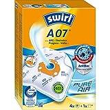 Swirl A 07 MicroPor Plus Staubsaugerbeutel für AEG, Electrolux, Progress, Volta Staubsauger, Anti-Allergen-Filter, 4 Stück inkl. Filter