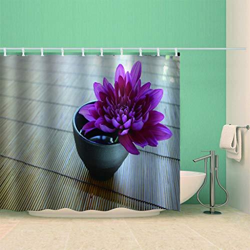 HBZZCL 3D Duschvorhänge Distel Schimmelresistenter Stoff Fabrik Wohnaccessoires 12 Gardinenhaken-180(W) X180(H) cm