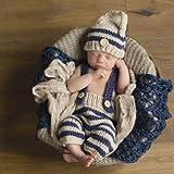 nouveau-né bébé fille/garçon Crochet Knit Costume Photo Photographie Prop Chapeaux tenues