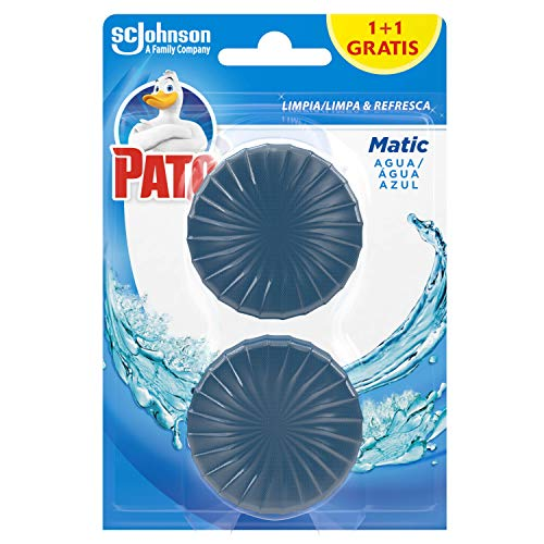 PATO J317008 - Matic Limpiador y Ambientador para Inodoro, Pastilla para Cisterna, 2 Pastillas ⭐
