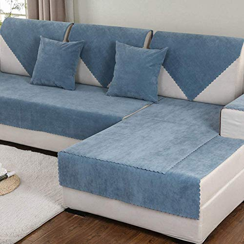 aasdf Waterproof Sectional Sofa Cover For Pets,Anti-slip Solid Color Stain Resistant Couch Covers FURNITURE PROTECTOR Slipcover