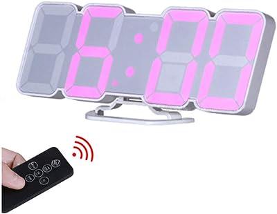 Reloj de Alarma de Pared Digital Remoto inalámbrico 3D, con 115 variaciones de Color de
