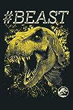 Mens Jurassic World BEAST Yellow T Rex Bite Graphic: Notebook Planner -6x9 inch Daily Planner Journa...