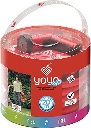 FITT Yoyo go - Manguera extensible y accesorios, color rojo, 20 mm