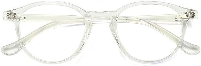 Blue Light Filter Computer Glasses for Blocking UV Headache Anti Eye Eyestrain Vintage Round Frame Eyeglasses Transparent Lens Gaming Glasses Unisex (Men/Women) (Clear)