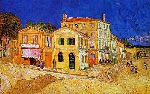 Casa amarilla de Van Gogh: pintura por números, pintura al óleo digital de bricolaje, regalo de pintura al óleo de lienzo preimpreso de bricolaje