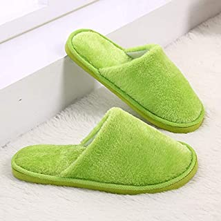 YANGLAN New plush indoor home autumn and winter wooden floor non-slip warm mute cotton slippers Household slippers (Color : E, Size : (37~38))