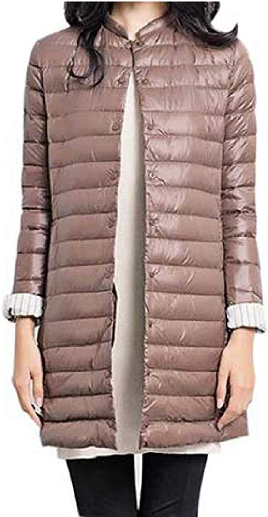 Winter Long Down Jacket Women Slim Duck Down Coat Outside Activities Packable Portable Stretch Overcoat Outerwear