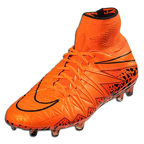Nike Men's Hypervenom Phantom II FG Soccer Cleats Orange 747213-888 (9)