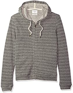 Billy Reid Men's Full Zip Herringbone Texture Hoodie