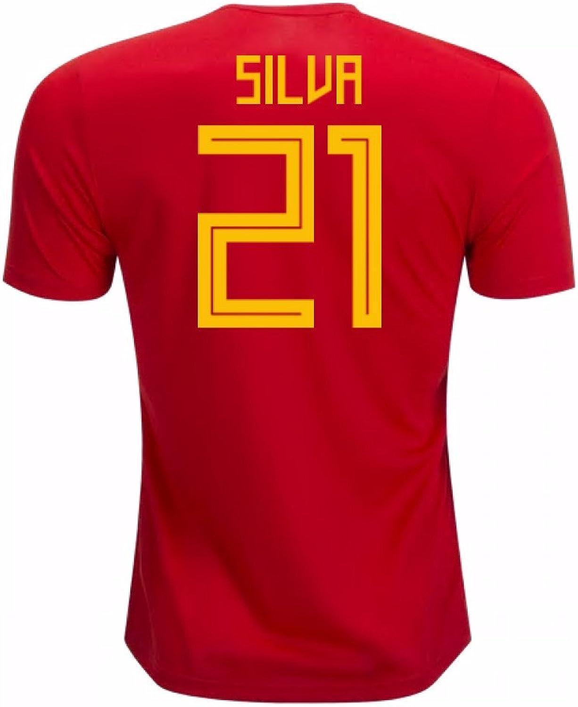 2018-19 Spain Home Shirt (Silva 21) - Kids