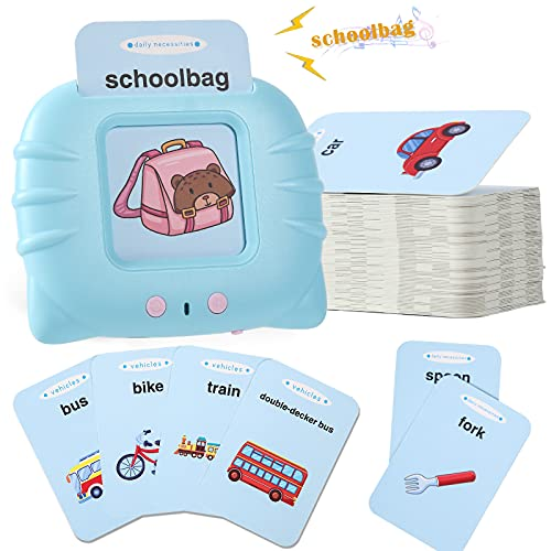 MOFGDNI Learning Toys for Toddlers 2-4 Year Olds - Baby Flash Cards for Toddlers Age 1-2 Years Sight Words Flashcards with Objects & Sounds - Preschool Educational Toys for Ages 1-2, 2-3 and 2-4