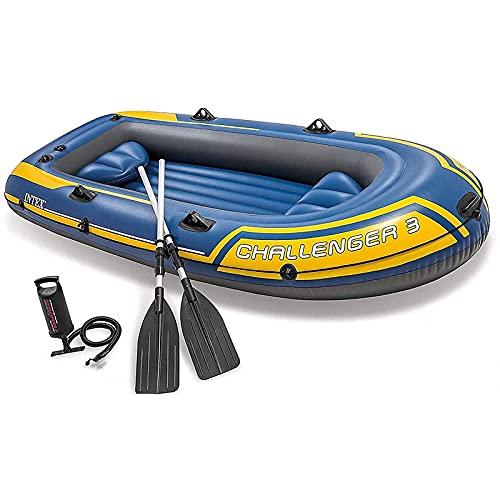 Barco Inflable, Kayak Inflable para 2/3 Personas Engrosado, Barco de Pesca Inflable a la Deriva con 2 paletas y Bomba Manual,Apto para Pesca en el océano y el Lago Carga de 300 kg
