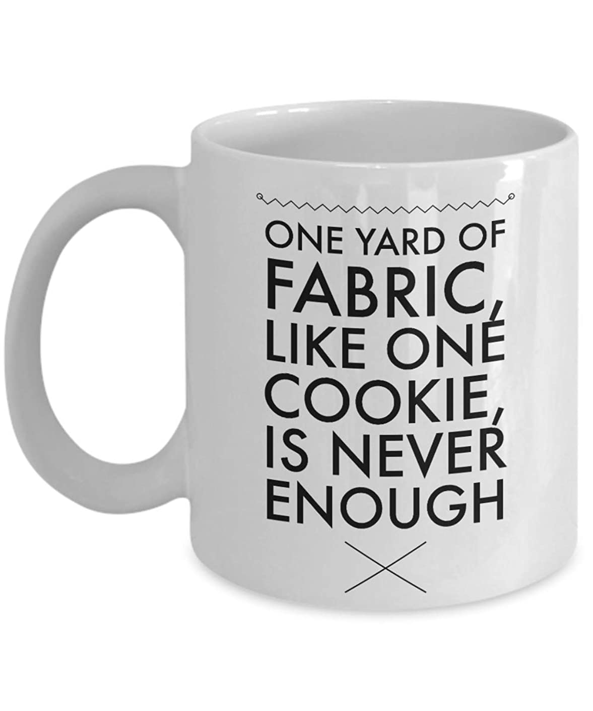 Sewing Quilting One Yard of Fabric Unique Gifts Funny Coffee Mug