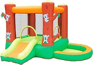 Castillos hinchables Castillo inflable del agua inflable de diapositivas pequeño trampolín al aire libre atracciones Equipment Water Park Castillo inflable ( Color : Orange , Size : 290x280x195cm )