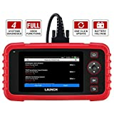 "LAUNCH OBD2 Scanner CRP123X Code Reader for ABS SRS Engine Transmission Code Reader Car Diagnostic Tool, Android 7.0-Based Wi-Fi One-Click Free Updates, 5.0"" Touchscreen, Upgraded Version of CRP123"