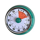 CHOSHU Mechanical Kitchen Timer,No Battery, Strong Magnet, Mini Cute Metal Timer, Loud Alarm, Kitchen Countdown Cooking Timer Reminder