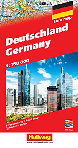 Deutschland Strassenkarte 1:750 000: Mit Orts- und Namensverzeichnis. Transitplänen und Index. e-Distoguide. Free Download on Smart Devices included.