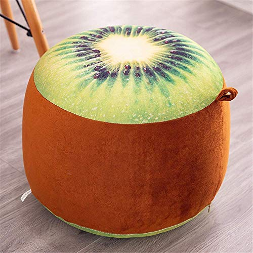 WEIZI Cute & Funny Inflatable Stool Sofa Home Decoration Portable Chair Long Plush Air-filled Comfort Seat Footstool & Carrying Shoes Stool Footstool + Free Inflatable Pump (Kiwis)