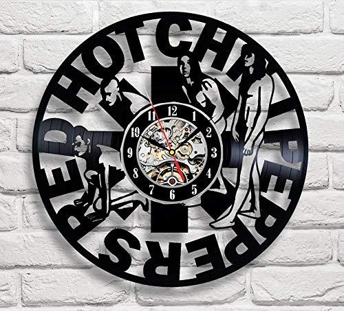 CHENFANGYUAN Red Hot Chili Peppers Design Vinyl Wall Clock Regalo Hecho A Mano En Cualquier Ocasión