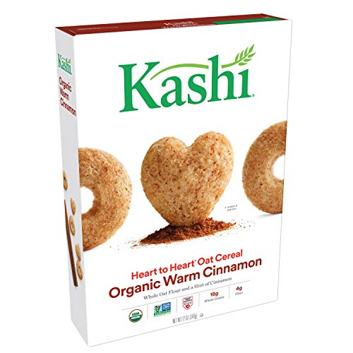 Kashi Heart to Heart Organic Warm Cinnamon Oat Cereal - Kosher | 12 Oz Box