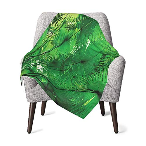 Rainforest Decorations Plants In Tropical Environment Exotic Jungle Atmosphere Asian Natural Beauty Pattern Green Baby Blanket, Baby Quilt, Baby Comfort Blanket, Baby Double Blanket