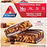 Atkins Meal Bars, Peanut Fudge Granola, Keto Friendly, 5 Count