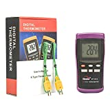 Dual Input K-Type Digital Thermometer for HVAC, air Conditioner, Furnace, Heater