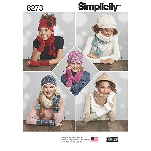 Simplicity 8273 Schnittmuster für Damen bei kaltem Wetter, Einheitsgröße