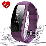 Fitness Tracker Heart Rate Monitor <span class='highlight'><span class='highlight'>AndThere</span></span> Bluetooth Smart Watch Activity Tracker Waterproof Wrist Pedometer Step Tracker Calorie Counter Sleep Monitor Health Bracelet for Android and iOS Smartphone