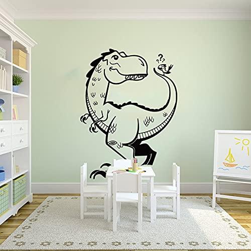 Dinosaurio de dibujos animados Triceratops pegatinas de pared de animales habitación de los niños Parque Jurásico dinosaurio pegatinas de pared de...