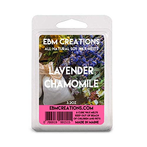 Lavender Chamomile - Scented All Natural Soy Wax Melts - 6 Cube Clamshell 3.2oz Highly Scented!