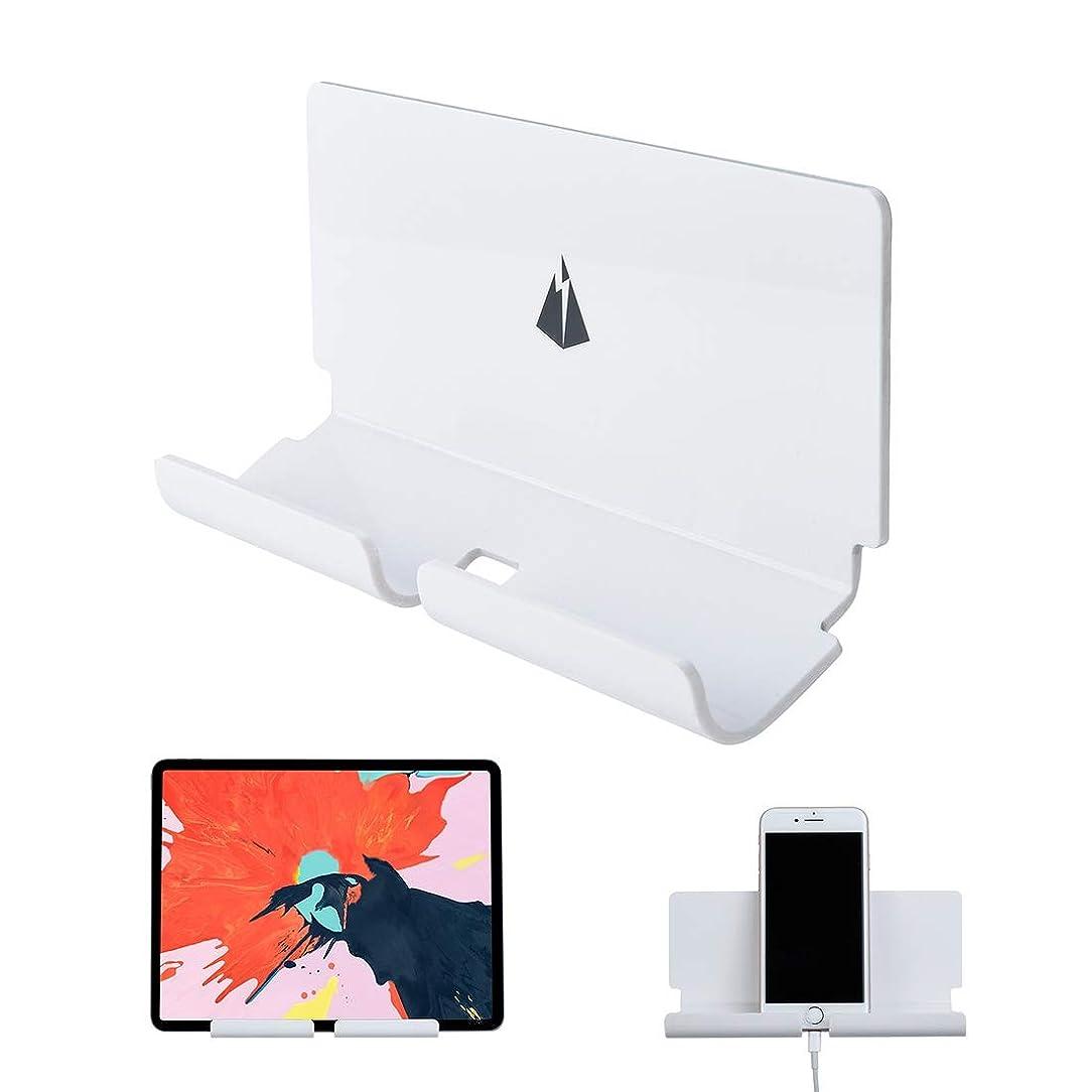 免除する全滅させるゲージKMLP 用 携帯電話&タブレットPC用3Mステッカー付き充電ホルダーウォールブラケット(ホワイト) (Color : 白)
