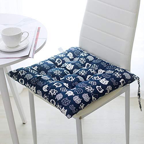 ZBBN Stuhlkissen mit Krawatten, quadratische Stuhlkissen mit Krawatten Sitzkissen zum Essen Wohnzimmer Küche Bürostuhl-t 50x50cm (20x20inch)