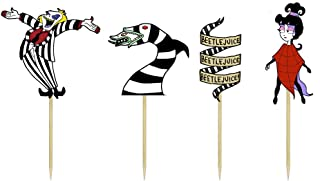 Beetlejuice Themed Cupcake Toppers