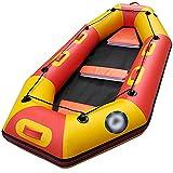 Kayaks Barco a la deriva a la deriva espesado al aire libre que se desvanece el área escénica del barco del barco del barco inflable kayaking para la Playa ( Color : White , Tamaño : 240x123x32cm )