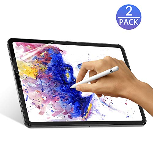 OMOTON [2 Pack] Paperlike Screen Protector for iPad Pro 11 2020 and 2018 Release - Sensitive Touch, Anti-Glare, Anti-Scratch Screen Protector, Compatible with Apple Pencil & Face ID
