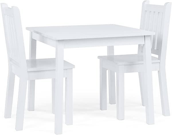 Tot 导师儿童实木月桌椅设置白光日光色