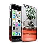 Stuff4 Coque Brillant Robuste Antichoc de Coque pour Apple iPhone 5C / Chiot Gui Design/Fête de Noël Collection