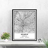WQHLSH Atlanta Map Print Poster Canvas | Atlanta City Map