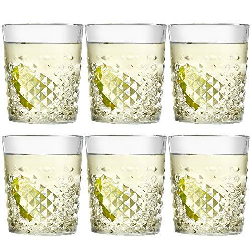 Libbey Bicchiere Carats - 355 ml/ 35.5 cl - set di 6 pezzi – lavabile in lavastoviglie – di alta qualità